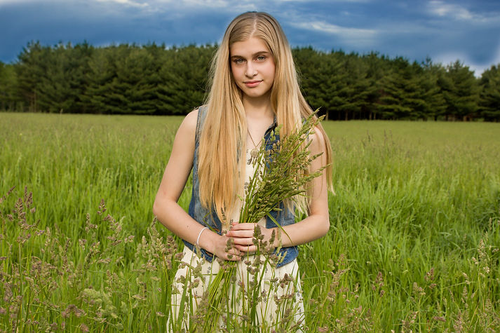 pretty girl in feild