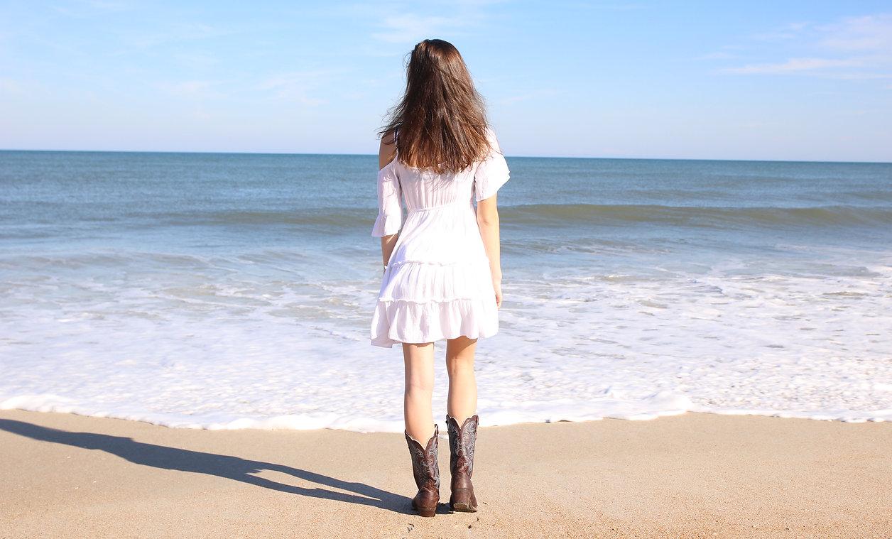 Girl on Florida beach