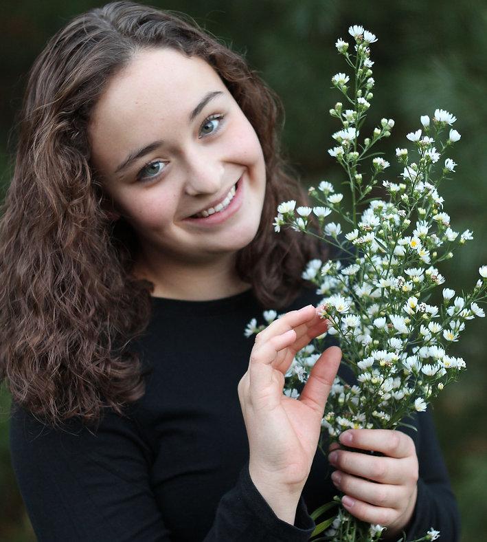 flowers, girl
