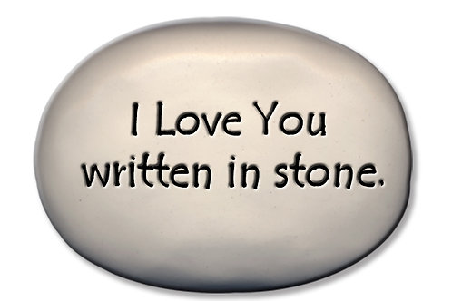 "3.5"" x 5"" x 1"" ""I love you written in stone"""
