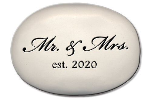 """3.5"""" x 5"""" x 1  """"Mr. & Mrs. Est. 2020"""""""