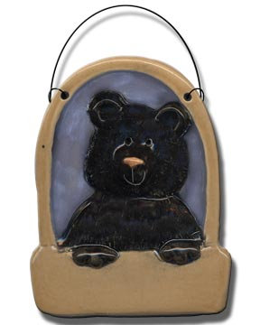 """3.5"""" Bear in Stall Ornament"""