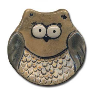 """3"""" Mini Tan Owl dish"""
