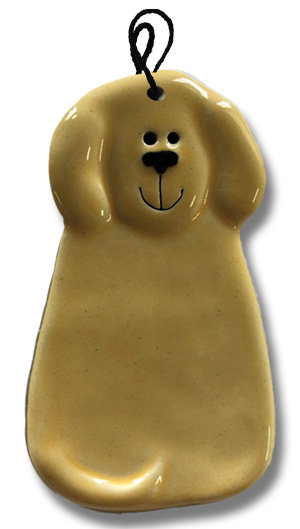 "2""x4"" Dog Ornament: Solid Yellow"