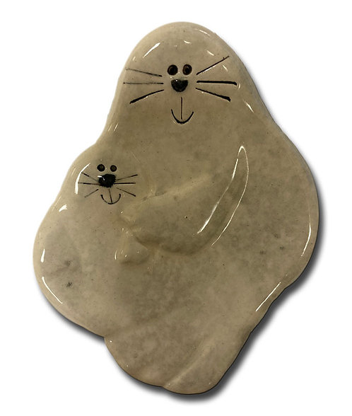 "3"" Mini Spotted Seal Dish"