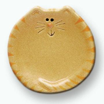 "3"" Mini Yellow Tiger Cat Dish"
