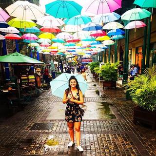 Rainy season in Port Louis, Mauritius