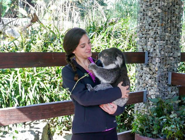 Snuggling my BFF Violet in Australia