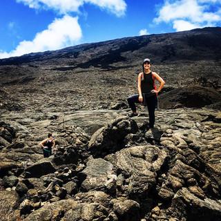 Climbing Piton de la Fournaise, an active volcano in Reunion