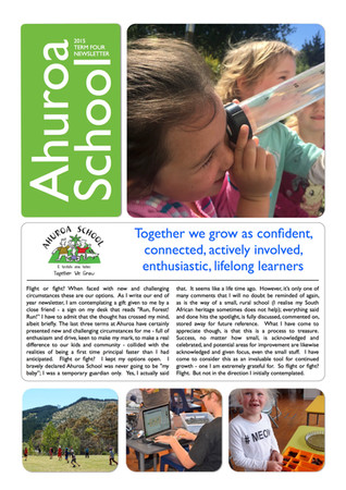 Term Four 2015 Newsletter
