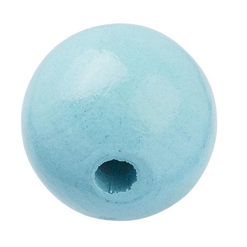 Schnulli-Perle in legno 12 mm turchese  25 Pz.