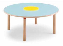 Tavolo circolare con vasca 128 cm