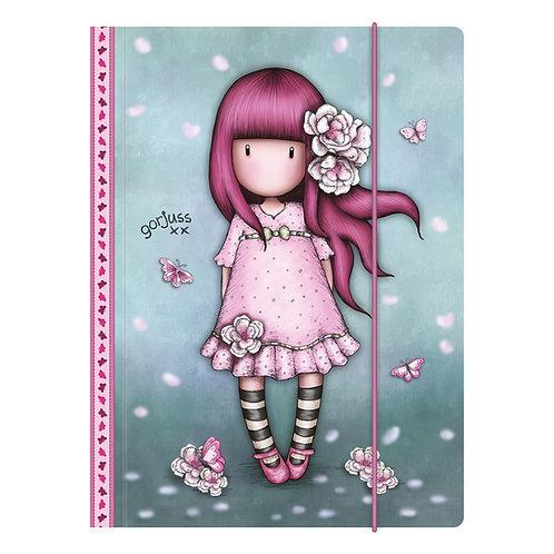 Gorjuss-Mappetta A4 con elastico Cherry Blossom
