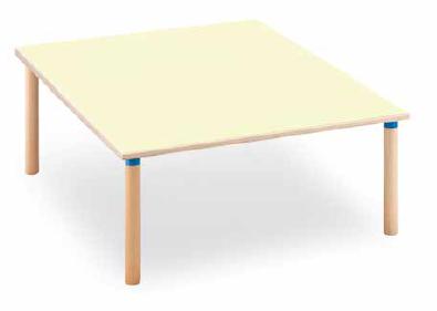 Tavolo quadrato 128x128 cm