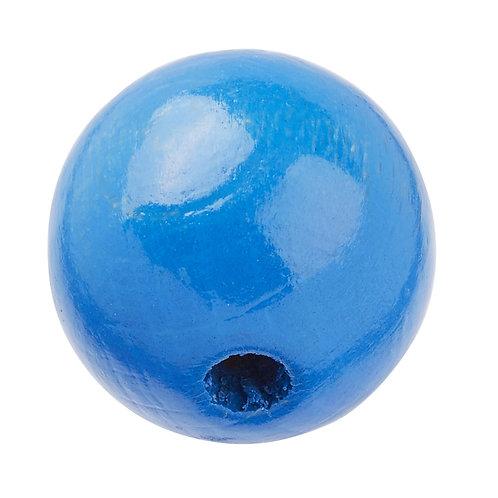 Schnulli-Perle in legno 12 mm blu 25 Pz.
