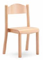 Sedia in faggio impilabile
