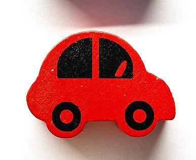 Auto in legno 30 mm rossa 1 Pz.