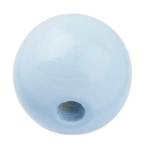 Schnulli-Perle in legno 12 mm celeste 25 Pz.