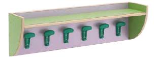 Mensola appendiabiti a parete 100x25x30 cm