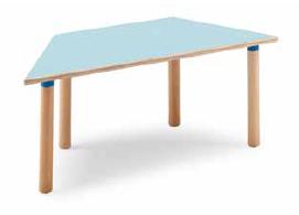 Tavolo trapezoidale 128x64 cm