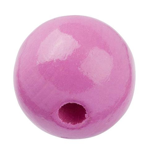 Schnulli-Perle in legno 12 mm ciclamino 25 Pz.