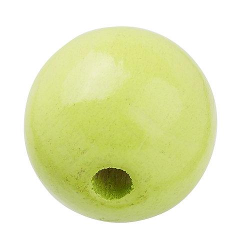 Schnulli-Perle in legno 12 mm verde limone 25 Pz.