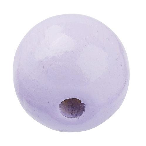 Schnulli-Perle in legno 12 mm lilla 25 Pz.