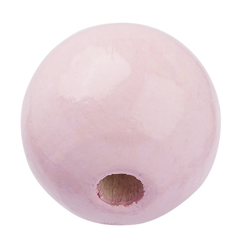 Schnulli-Perle in legno 12 mm rosa 25 Pz.