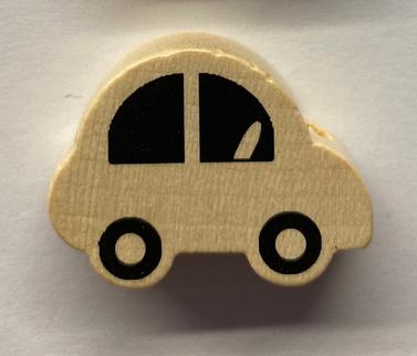Auto in legno 30 mm naturale 1 Pz.