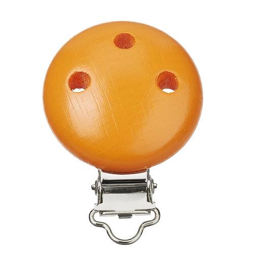 Schnulli clip in legno 37 mm colore albicocca1 Pz.