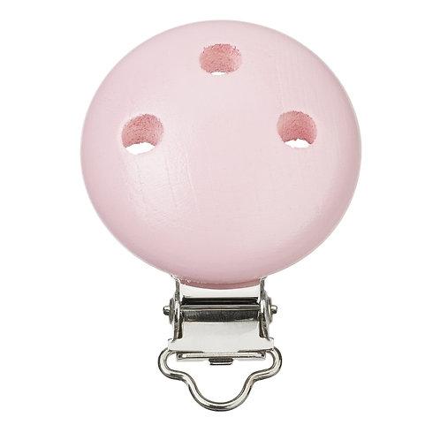 Schnulli clip in legno 37 mm colore rosa1 Pz.