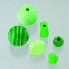 Mix perle in legno verde 25 Pz.