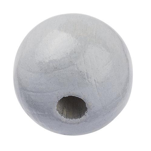 Schnulli-Perle in legno 12 mm grigio 25 Pz.