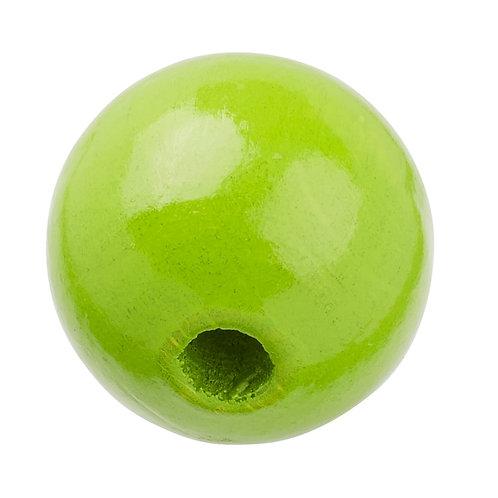 Schnulli-Perle in legno 12 mm verde mela 25 Pz.