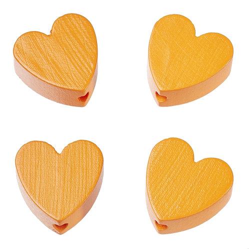 Schnulli cuore in legno 20 mm albicocca 4 Pz.