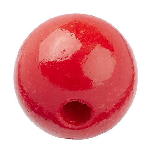Schnulli-Perle in legno 12 mm rosso 25 Pz.