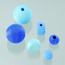 Mix perle in legno blu 25 Pz.