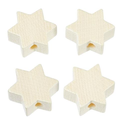 Schnulli stella in legno 19.5 mm naturale 4 Pz.