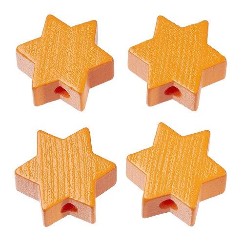Schnulli stella in legno 19.5 mm albicocca 4 Pz.
