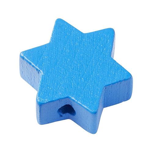 Schnulli stella in legno 19.5 mm blu 4 Pz.