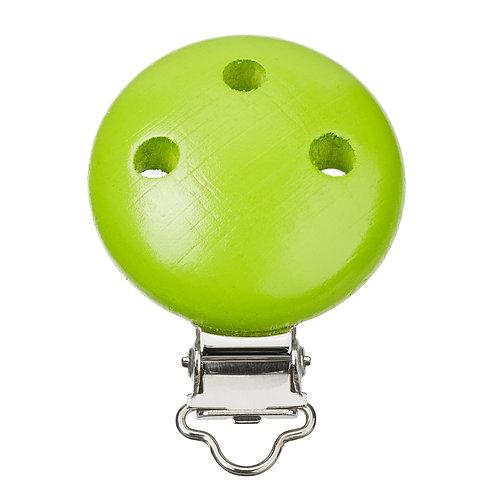 Schnulli clip in legno 37 mm colore verde mela1 Pz.