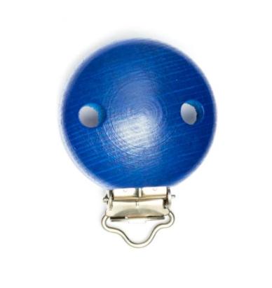Schnulli clip in legno 37 mm colore blu 1 Pz.
