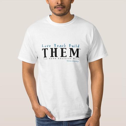 Love Teach Build THEM - Men's 100% Cotton T