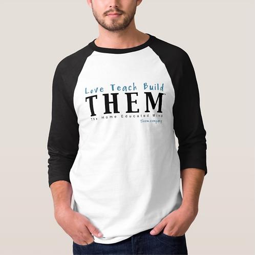Love Teach Build THEM - Men's Baseball Jersey