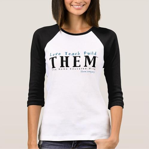 Love Teach Build THEM - Women's Baseball Jersey