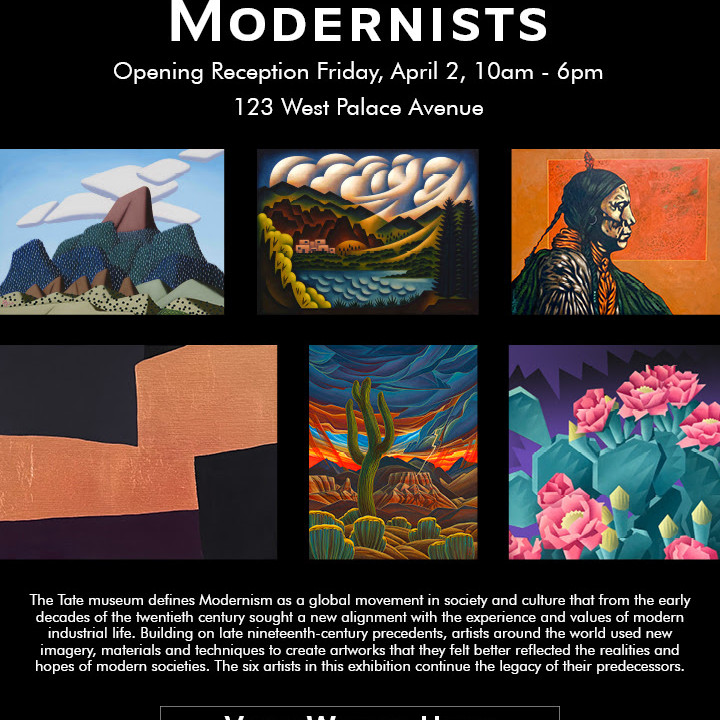 Modernists Show Opens April 2, 2021