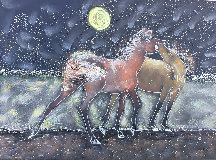Equine Love Under a Full Moon