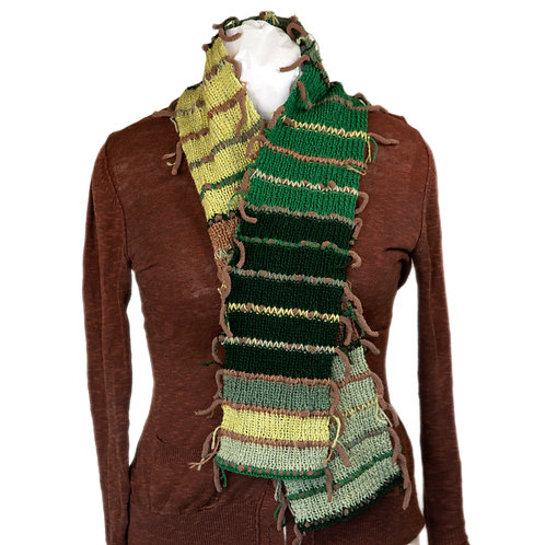 Fringe Hand Knit Scarf