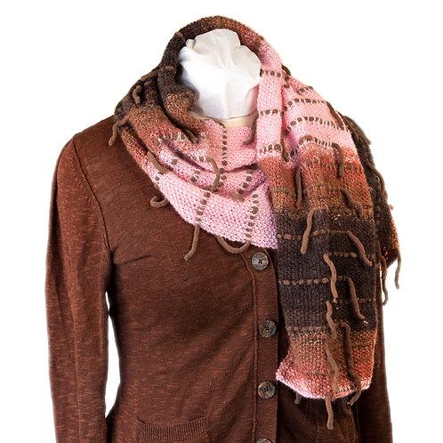 Mountain Boho Hand Knit Scarf