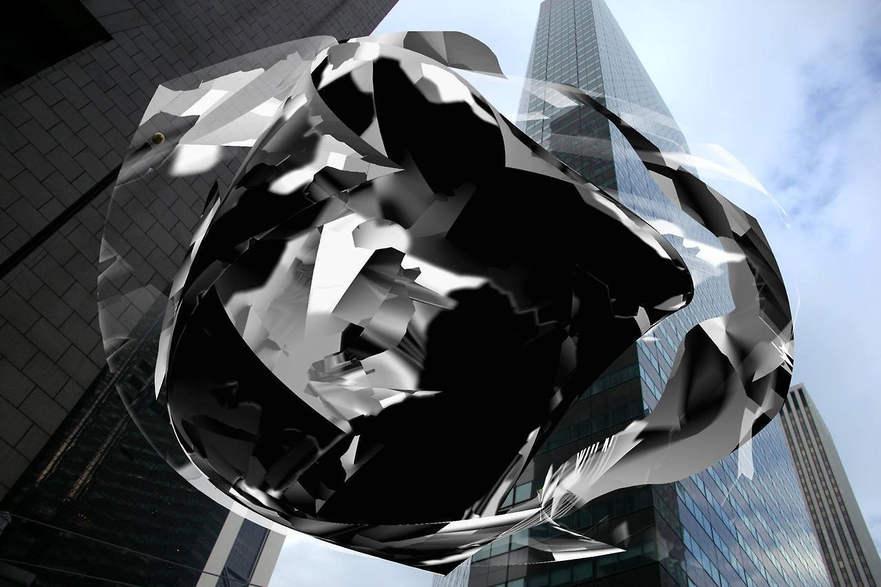 digital motion sculpture  by DARIA BLAZEK